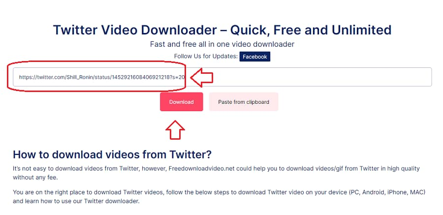 How to download Twitter video or gif Step 2