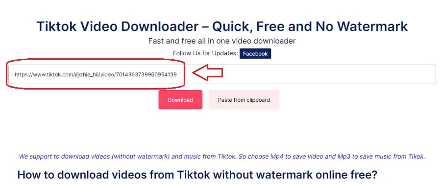 How to download tiktok video - Step 2