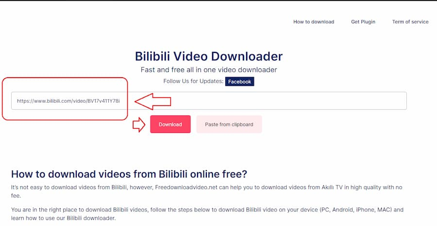 Step 2 How to download videos from Bilibili