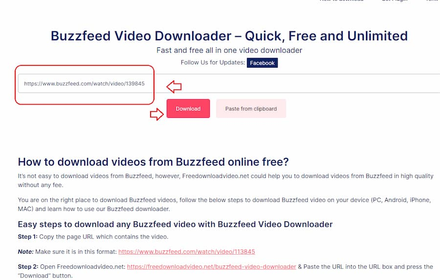 Step 2 download videos from Buzzfeed
