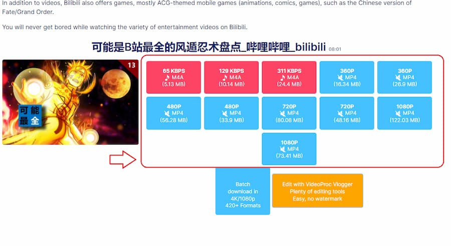 Step 3 How to download videos from Bilibili